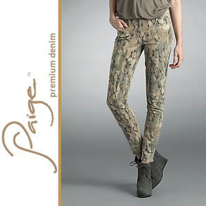 PAIGE   'Verdugo' Tanzania Camo Print Jeans